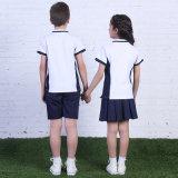 SGS unisex de la camisa de polo del uniforme escolar de la venta al por mayor de la fábrica de Guangzhou