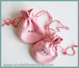Saco cor-de-rosa luxuoso do malote da jóia de veludo do saco da jóia de veludo