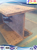 Piattaforma saldata della struttura d'acciaio con la scala