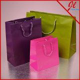 Sacos de Tote coloridos dos sacos de compra de Kraft do matiz euro-
