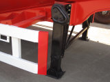 avec le compresseur d'air deux les essieux sèchent la remorque en bloc de camion-citerne de la colle
