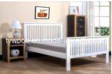 Кровать двойника 4FT6 качества машинной плиты нового типа трасучки белая деревянная деревянная классицистическая самомоднейшая