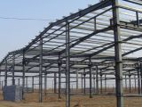 Almacén industrial de la estructura de acero de la puerta deslizante