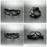 Occhiali di protezione trasparenti del pattino di sicurezza dell'obiettivo del PC con i rilievi di gomma piuma (SG144)