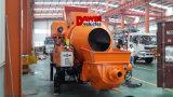 Pompe concrète hydraulique puissante remorquable avec le fournisseur de la Chine du mélangeur 450L