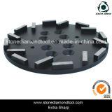 250mm Blastrac Maschinen-Segment-konkreter Diamant-reibende Platte