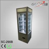 Todo o gabinete de vidro lateral da bebida do armazenamento do refrigerador da bebida do indicador (SC-238B)