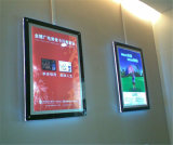 Montaje LED de la pared que hace publicidad del rectángulo ligero cristalino de la visualización