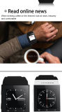 Bluetooth 4.0 WiFi GPS 3G WCDMA 인조 인간 시계 전화 Smartwatch