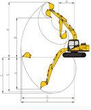 Excavatrice de chenille de Jcm de 13 tonnes (913D)
