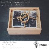 Hongdao modificó el rectángulo de madera del álbum para requisitos particulares de foto del regalo para Sale_D
