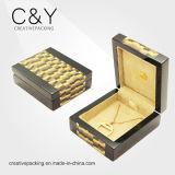 Caixa de jóia feita sob encomenda de madeira da venda por atacado nova extravagante do projeto para o presente