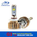 Ampoule de phare du véhicule DEL du G3 30With3200lm 9005 de lampe de nécessaire de conversion du phare 6000k du véhicule DEL avec 18 mois de garantie