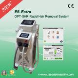 Laser eccellente 2 del ND YAG di E6 efficace IPL in 1 macchina di rimozione dei capelli dell'E-Indicatore luminoso