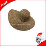 Chapéu da mulher, chapéu de palha flexível, chapéu de papel flexível, chapéu de papel