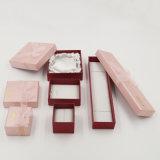 Silberner stempelnder Offsetpapier-Geschenk-Schmucksache-Kasten mit Farbband-Bogen (J84-EX)