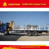Sinotruk HOWO 6X4 40tの平面トラックの容器輸送のトラック