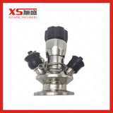 Tipo manual higiênico válvula do aço inoxidável da amostragem