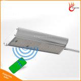 Luz solar clara solar do jardim do sensor de movimento do radar de 70 diodos emissores de luz com de controle remoto
