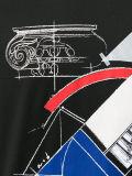 عالة يقصّر [منس] كم جديدة تصميم طبعة [ت] قميص