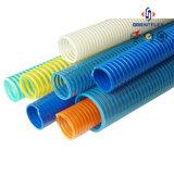 Pipe bleue flexible d'évacuation de boyau de PVC de jaune de 3 pouces