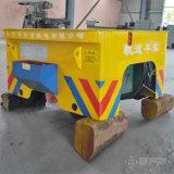 電動機を搭載する中国の製造者80tの一貫作業使用の柵の平らなトレーラー