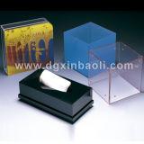 Boîtes acryliques de tissu de serviette de vaisselle