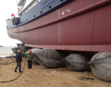 Shipyard Use Marine Balloon for Ship Launching