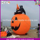 Abóbora inflável do gato preto da venda quente para a decoração de Halloween