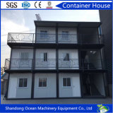 O baixo custo pré-fabricou casa viva do recipiente feita de materiais de construção da construção de aço