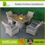 セットを食事する屋外の庭のテラスの家具(表および椅子)