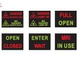 Doppeltes färbt Sicherheits-Schalter-Methoden-geleuchtetes Innenzeichen