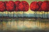 Retro pittura a olio di arte del mestiere per il fiore di loto