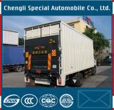 유압 Tailboard를 가진 4X2 17m3 Box 밴 Cargo Truck