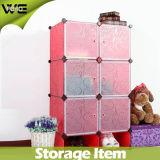 De goedkope Kast die van de Garderobe Kabinet van de Garderobe van de Jonge geitjes van de Slaapkamer het Plastic vouwen