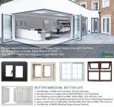 Balanço americano Windows exterior do indicador do PVC do estilo com cortinas