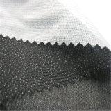 외투를 위해 38GSM 40GSM 트리코에 의하여 뜨개질을 하는 길쌈된 가용성 행간에 어구를 삽입