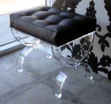 Acrílico negro Z forma comedor silla (btr-q3006)