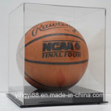 Clear Basketball Display Case Acrylic Solid Black Base