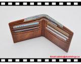 Beiläufige lederne Kreditkarte RFID, die Mappen blockt