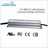 excitador constante ao ar livre do diodo emissor de luz da tensão IP67 de 75~80W 12~40V