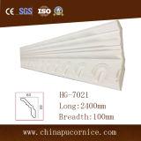 пена полиуретана 2.4m длиной 10cm широкая белая отливая PU в форму отливая в форму для нутряного украшения