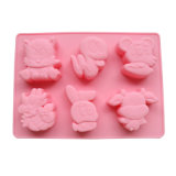 Molde material de la torta del silicón de la categoría alimenticia del certificado del FDA, molde Shaped animal de la torta del silicón