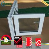 El marco residencial del vidrio Tempered de la casa del PVC hace pivotar hacia fuera Windows