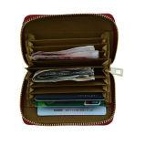 zipper PU 콧수염 장식 지갑의 주위에 가죽 카드 소지자 숙녀 명함통 Zip