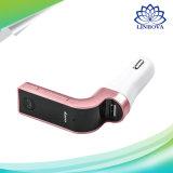 Émetteur FM + chargeur + lecteur MP3 + Bluetooth de véhicule + appel téléphonique mains libres + slot pour carte de FT