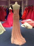 Платье вечера Mermaid розовое без бретелек для венчания
