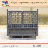 Сверхмощная складная & Stackable клетка ячеистой сети для хранения пакгауза