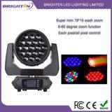 Iluminar luzes moventes das cabeças da mini lavagem do diodo emissor de luz dos watts 19*15 para o estágio