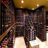 Вставки шкафа вина твердой древесины виллы роскошные для шкафа (GSP19-012)